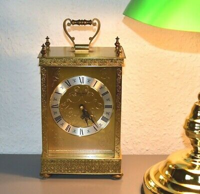 LONDON CLOCK Co vintage brass mantle clock.