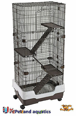 Chinchilla, Rodent Cage Four Tier On Wheels Brown