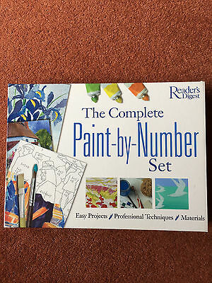Complete Readers Digest Paint-By-Numbers Set-New