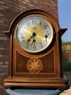Hermle Barrister Inlaid Mantle Clock Westminster Chime