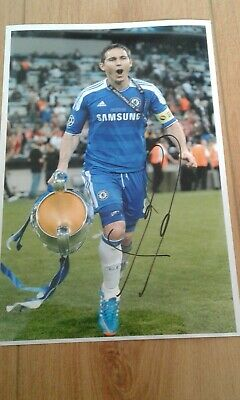 Frank LAMPARD Champions League winner  Hand Signed 12x8  signed  photo Autograph