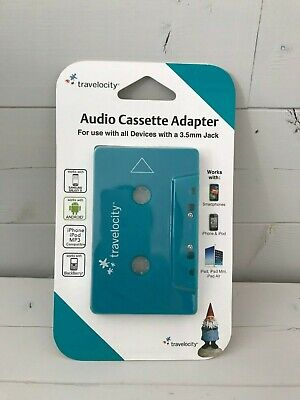 Travelocity Audio Cassette Adapter 3.5mm for Iphone, Mp3, Ipod