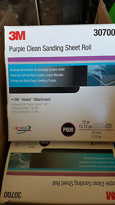 3M 30700 Hookit Purple Clean Sanding 800 Grade Abrasive Sheet Roll 70 mm x 12 m