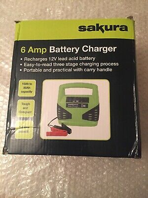 6 Amp 6 / 12 Volt Heavy Duty Battery Charger Car Motorbike Boat Bike Scooter Van