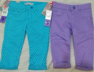 Two New Urban Star Girls Filles Jeans - Dotted Turquoise & Purple Size 5