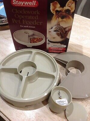 Staywell 203 Clockwork Operated Pet Feeder for Small Animals Cats & Dogs