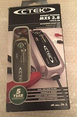 CTEK MXS 3.8 Smart Battery Charger 7 Stage 12v 3.8A