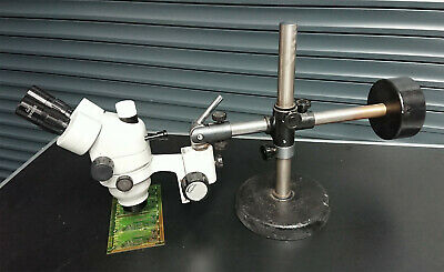 GX Zoom Stereo 3D Microscope with Stand  X10 Occular X.7-4.5 zoom Objective