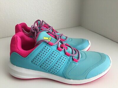 Adidas S-Flex K Blue Pink Kids Girls Running Shoes Sneakers -