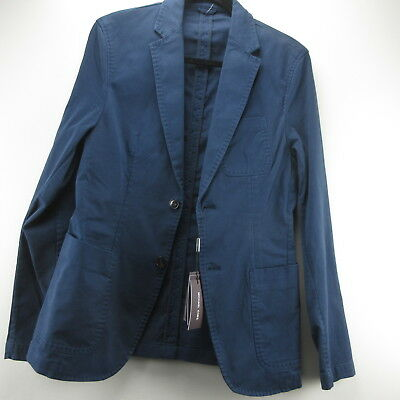 Michael Kors Blazer Coat Jacket Blue Midnight 36R Two Button Mens