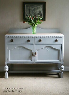 Vintage Painted Shabby Chic Country Oak Sideboard Cupboard Dresser Chalk Paint