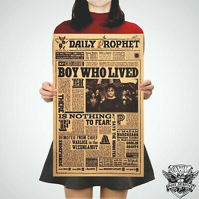 Harry Potter Poster Art Movie Vintage Paper Dictionary Picture Boy Who Lived