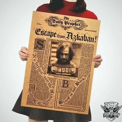 Harry Potter Poster Art Movie Vintage Paper Dictionary Picture Sirius Black