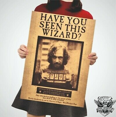 Harry Potter Poster Art Movie Vintage Paper Dictionary Sirius Black Azkaban