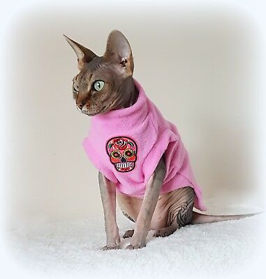 love SKULLS Sphynx clothes,coat top for a Sphynx cat - cat clothes, Hotsphynx