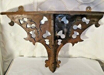 Vintage Carved&Pierced Wooden Wall Sconce