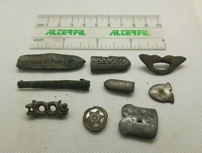 Lot of 4  Perfect Ancient Bronze  DECORATION FOR BELT Viking Age  #476