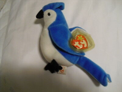 Rocket (the bluejay) Ty Beanie Baby - Retired - 1997