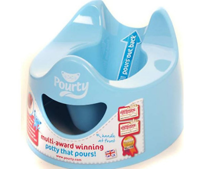 Potty Toilet Training For Baby Toddler Easy To Pour To Clean N Empty Pourty Blue