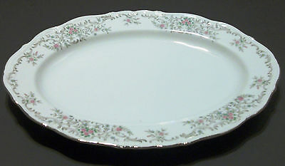 "NORLEANS Laurella Fine Porcelain China of Japan 12"" Oval Serving Platter Vintage"