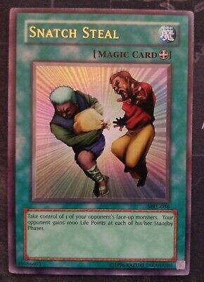 MRL-036 YuGiOh Snatch Steal Unlimited Edition Moderately Played Ultra Rare