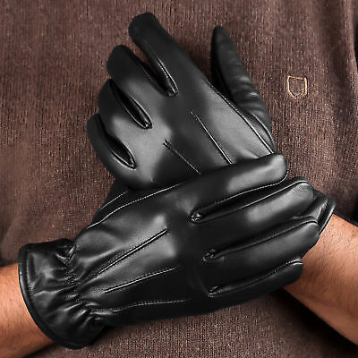 Men's Leather Gloves Driving Police Thinsulate Dress Winter Gloves for Men