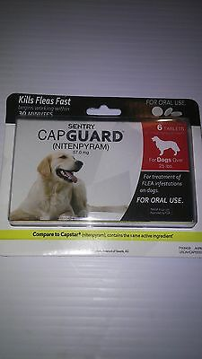 Capguard (nitenpyram) Oral Flea and Tick Tablets for Dogs Over 25 lbs 6 count