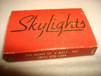 Rare Vintage Matches Match Box Skylights Hyatt Regency Baltimore MD USA Original