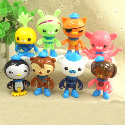 8PCS Octonauts Octo-Crew Action Figure Kid Childrens Toy Doll Gift Collection