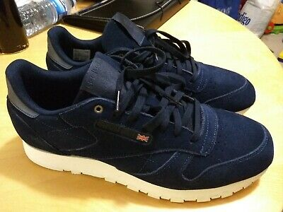 2107915c3f6 REEBOK CLASSIC BLUE Leather Montana Cans Limited Edition Casual ...