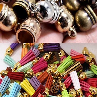 50pcs Brass Caps End Cap Beads Making Bracelet Jewelry Findings Accessories