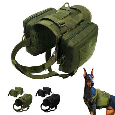 Military Tactical Dog Training Harness Molle Vest Reflective Vest  Pockets Green