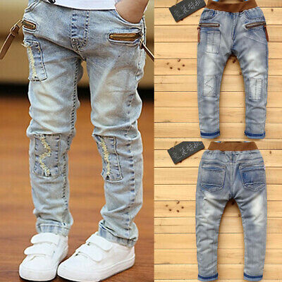 IENENS Fashion Kids Boys Jeans Denim Clothing Pants Boy Clothes Trousers Bottoms