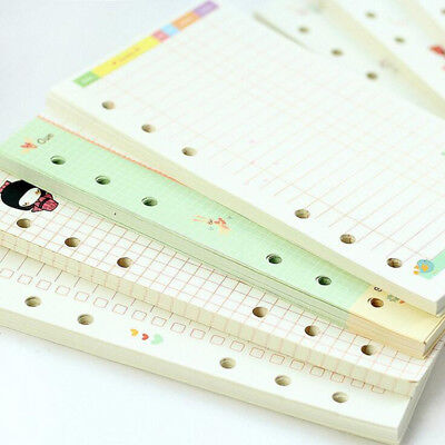 Colorful Notebook Filler Paper A5/A6 Spiral Inner Pages Weekly Monthly Planner