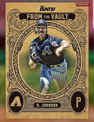 151d3f5ac2 Topps Bunt 2018 - Diamondbacks From the Vault Randy Johnson Gold - Digital