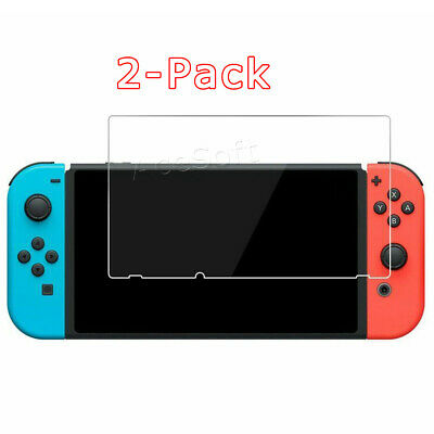 2 Pack Tempered Glass Screen Protector Film for Nintendo Switch Console 6.2 Inch