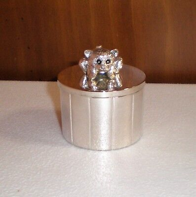 "Silver-Plated Keepsake Box  ""BABY'S FIRST TOOTH or CURL"" EUC"