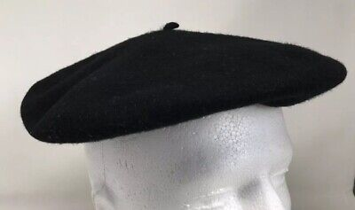 597c28473fa5a BLACK WOOL BASQUE Beret Veritable Commando Made in France Vintage ...