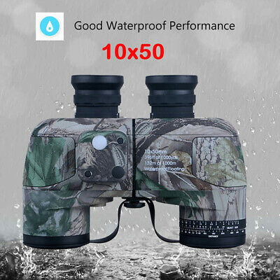 10x50 Binocular with Digital Compass Low Night Vision Wide Angle IPX7 Telescope