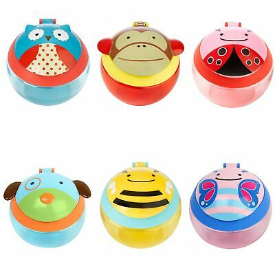 Skip Hop Zoo Baby / Toddler Feeding No Spill Snack Cup With Snap-Top Lid Owl