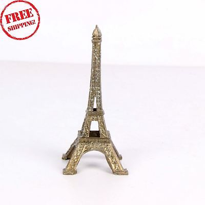 Old Indian Antique Hand Crafted Brass Eiffel Tower Statue, Collectible 1830