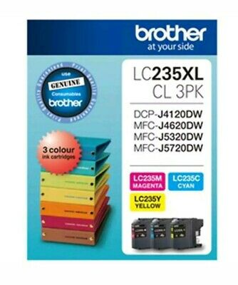 Brother Ink Cartridge LC235XL - High Yield Tri Colour Value Pack