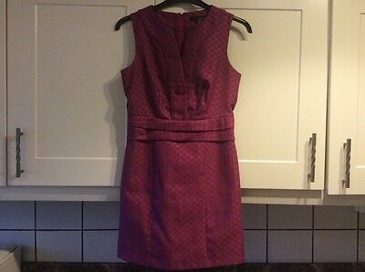Ladies size 10 wine /dark pink colour lined dress from next approx 34 inches