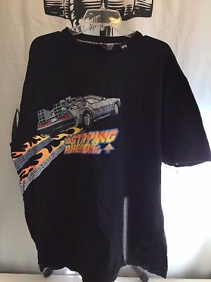 Back To The Future Movie Logo Officially Licensed Men's 2XL XX-LARGE LRG LIFTED