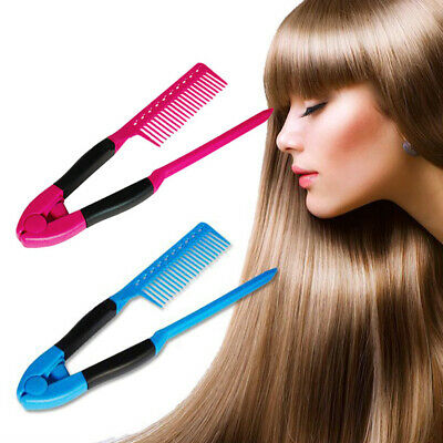 Straightener Comb Diy Home Blowing Hair Salon Haircut Hairdressing Styling Combs