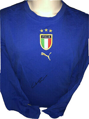 Signed Paolo Maldini Retro Italy Home Shirt