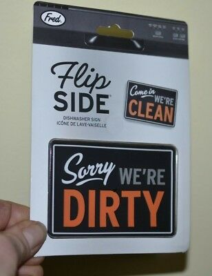 Reversible Double Sided Dishwasher Magnet Clean Dirty Flip Side Dishwasher Sign