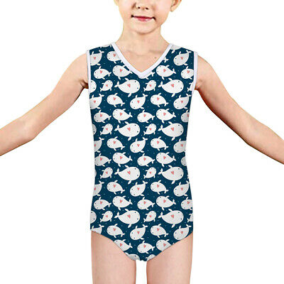 5-14Y Whale Girls Swimsuit Children Bikini Swimwear Blue Swimmers Bath Summer