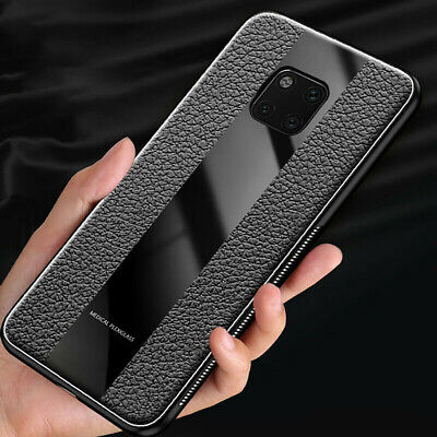 Luxury PU Leather Soft Tempered Glass Case Cover For Huawei P30 Pro P30 P30 Lite