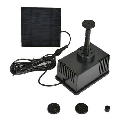 Solar Powered fountain pump Garden Pond Submersible Water Pump Features 180L/H
